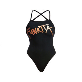 Funkita Strapped In One Piece Swimsuit Dames, chromed